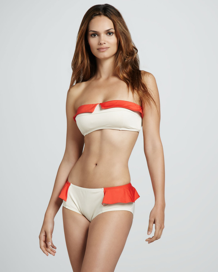Marc by Marc Jacobs Colorblock Ruffle Bandeau Top