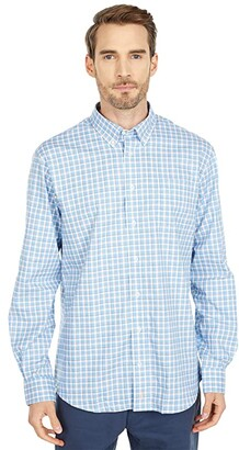 johnnie-O Curtis Button Down Shirt (Gulf Blue) Men's Clothing