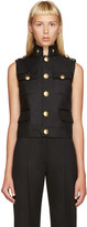 DSQUARED2 Black Wool Army Vest