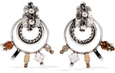 Dannijo Brigid Oxidized Silver-plated Swarovski Crystal Earrings - one size
