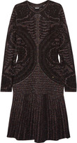 Just Cavalli Metallic stretch-knit dress