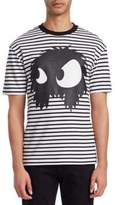 McQ Stripe Monster Dropped-Shoulder Cotton Tee