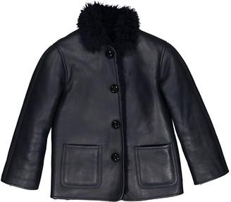 Celine Navy Shearling Jackets