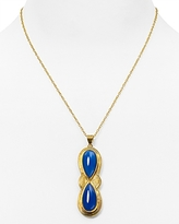 Yuwei Double Teardrop Necklace, 18