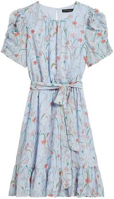 Banana Republic Floral Puff-Sleeve Dress