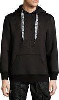 PRPS Neoprene Logo Hooded Sweatshirt, Black