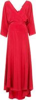 Diane von Furstenberg long sleeve floor length wrap dress
