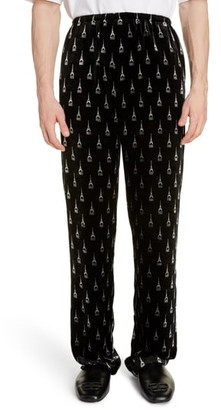 Balenciaga Eiffel Tower Velvet Pyjama Pants