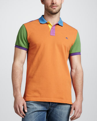 Etro Colorblock Polo Shirt