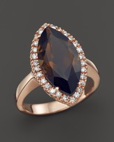Bloomingdale's Smokey Topaz and Diamond Marquise Ring in 14K Rose Gold