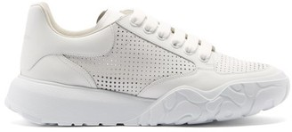Alexander McQueen Court Raised-sole Leather Trainers - White