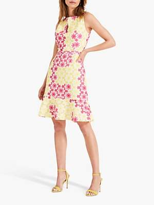 Damsel in a Dress Elanor Embroidered Dress, Yellow/Pink