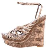 BCBGMAXAZRIA Leather Wedge Sandals