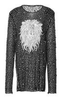 Balmain Embroidered Lion Linen Dress