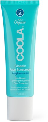 Coola Suncare Fragrance Free Classic Face Organic Sunscreen Lotion SPF 50