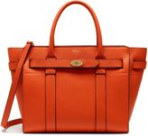 Mulberry Small Zipped Bayswater Bright Orange Small Classic Grain