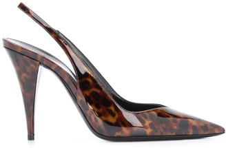 Saint Laurent Kiki 110mm tortoiseshell pumps