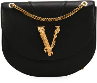 Versace Smooth Vitello Leather Shoulder Bag