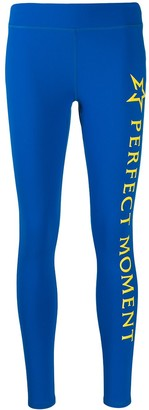 Perfect Moment Logo Printed Leggings