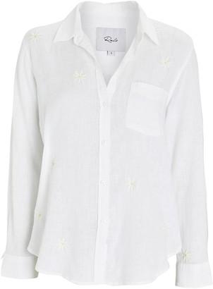 Rails Charli Embroidered Linen-Blend Shirt