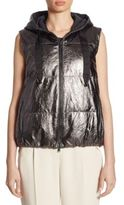Brunello Cucinelli Leather Puffer Vest