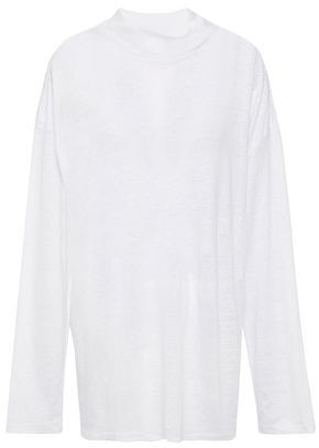 IRO Weather Slub Linen-jersey Top
