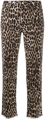 MICHAEL Michael Kors leopard print cropped jeans