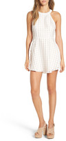 Lovers + Friends Terrace View Gingham Fit & Flare Dress