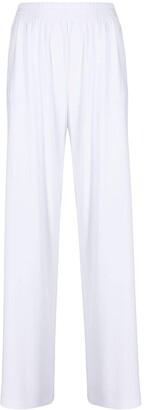Norma Kamali Side-Stripe Detail Trousers