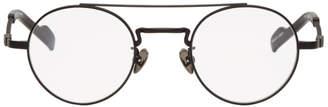 Yohji Yamamoto Black Round Braided Glasses