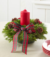 L.L. Bean Tartan Christmas Fir Centerpiece
