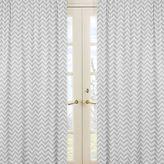 Sweet Jojo Designs Zig Zag Chevron Window Curtain Panel Pair in Grey/White