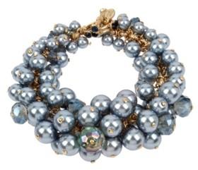 Miriam Haskell New York Shaky Imitation Pearl Cluster Toggle Bracelet