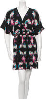 Halston Watercolor Mini Dress