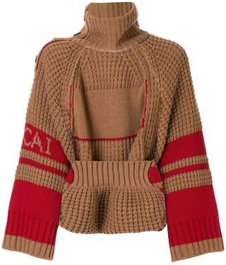 Sacai open front jumper