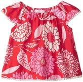 Masala Flutter Blossom Top (Baby) - Red - 6-12 Months