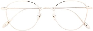 EQUE.M Cotton Candy round frame glasses