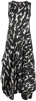 High All Out Printed Satin Midi Dress