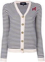 Rochas striped knitted cardigan