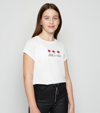 New Look Girls Thanks A Bunch Rose T-Shirt