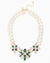 Charming charlie Bold Pearl Cluster Necklace
