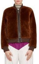 Chloé Shearling Leather Bomber Jacket