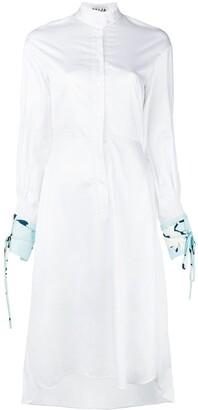 Teija Contrast Cuffs Shirt Dress