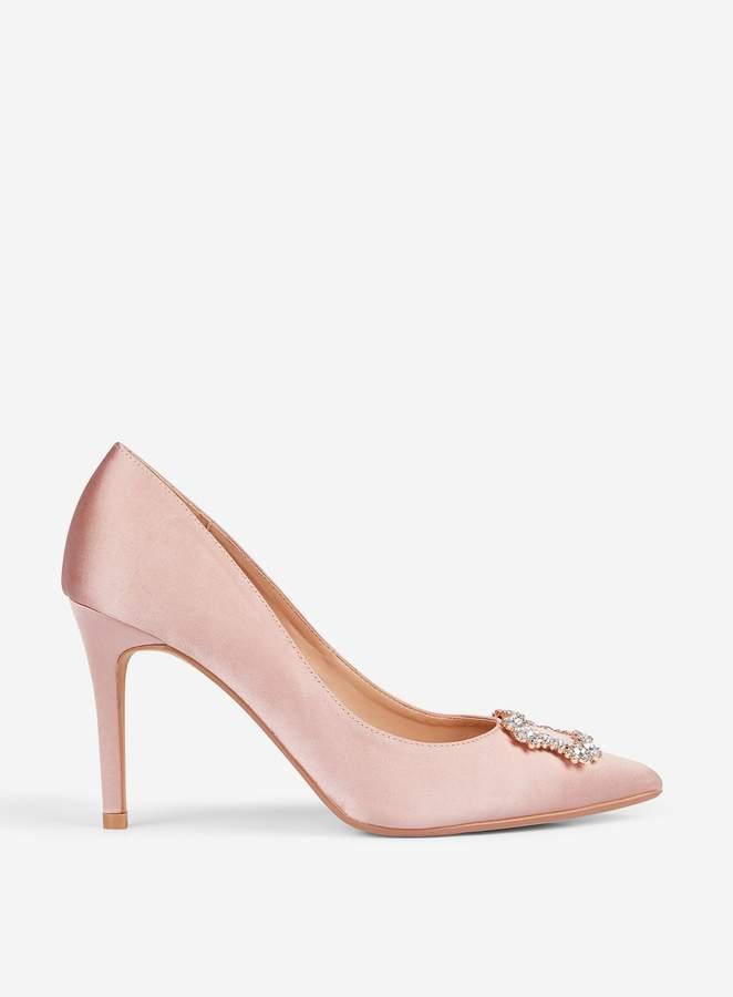 bc90b8e380a Womens **Showcase Blush 'Glad' Square Jewel Court Shoes