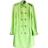 Gianni Versace Green Silk Trench Coat for Women Vintage