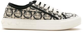 Salvatore Ferragamo jacquard Gancini lace-up sneakers