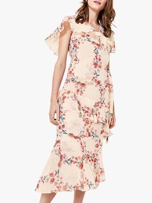 Oasis Floral Ruffle Dress, Multi