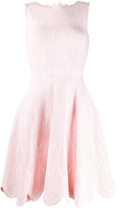 Antonino Valenti Scalloped Trim Day Dress