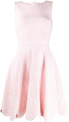 Antonino Valenti Scalloped Trim Day Dress