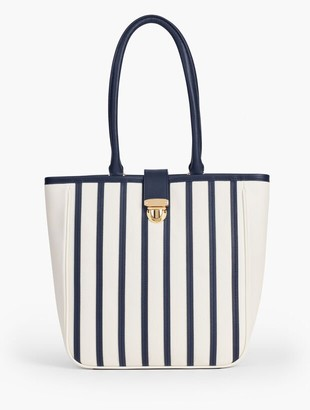 Talbots Nappa Leather Tote - Stripe